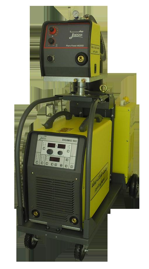 دستگاه اینورتری سه فاز مدل DIGI MIG 502 هوا خنک/آب خنک